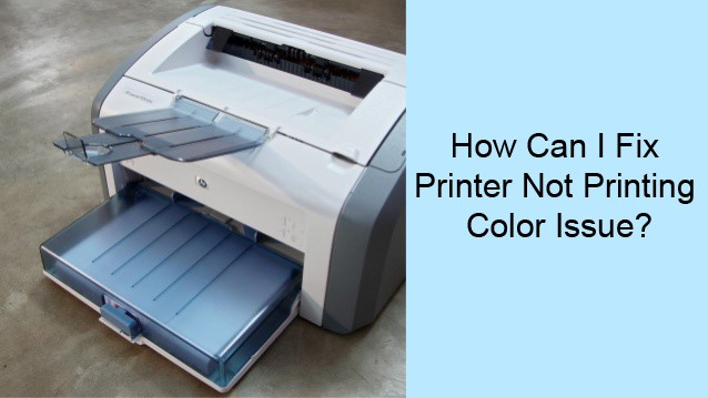 HP Printer Not Printing Color