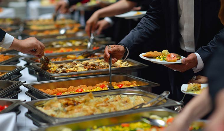 Buffet-Style Service in Indian Wedding